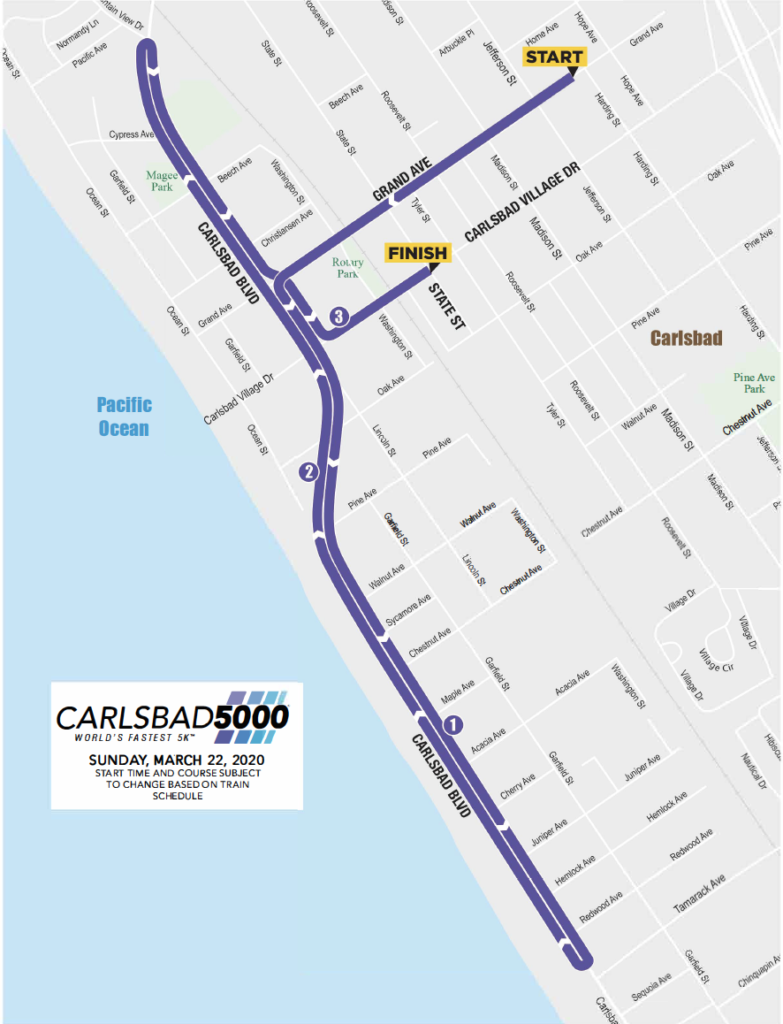 2020 Carlsbad 5000 Course