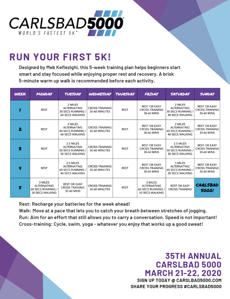 First 5K Training Plan