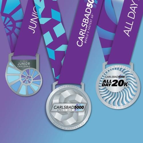 2019 Carlsbad 5000 Medals - Carlsbad 5000